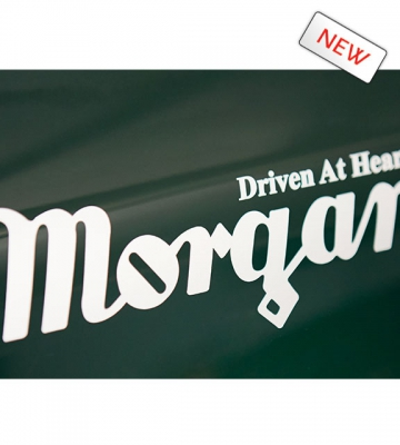 Sticker : MORGAN DRIVEN AT HEART (Grijs of Zwart) klein formaat [ART 272] 10,89€ BTW inb