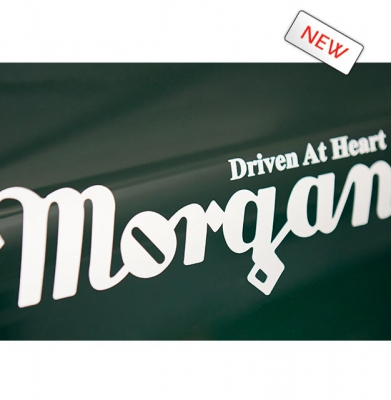 Sticker : MORGAN DRIVEN AT HEART (Grijs of Zwart) Groot formaat [ART 273] 18,15€ BTW inb