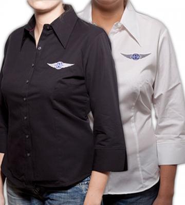 Hemd voor  dames in zwart of wit (3/4 mouwen) [ART 168] 71,15€ BTW inb