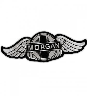 Opnaaivilt geborduurd Morgan logo (30cm x 11cm) [ART 178] 40,03€ BTW inb