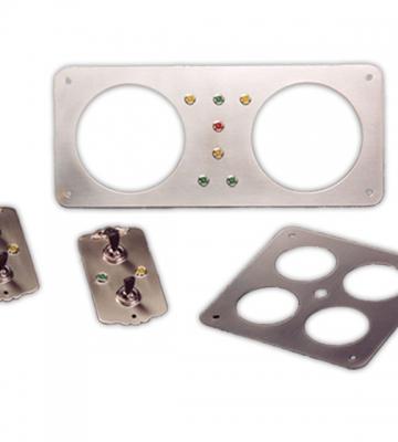 Set roestvrij platen + schakelaars en verklikkerlichten (1998-2003) [ART 57] 517,70€ BTW inb