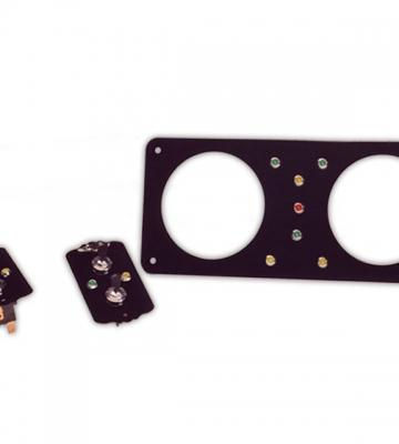 Set zwarte platen + schakelaars en verklikkerlichten [ART 56] 517,70€ BTW inb