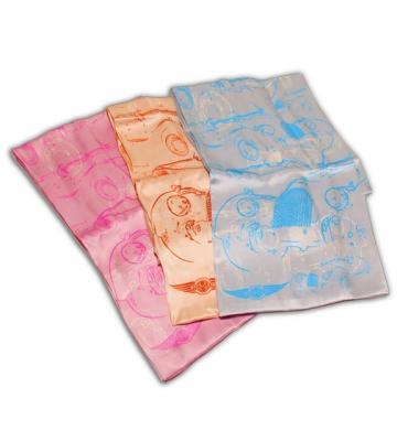 Zijden sjaal blauw- bruin -roze [ART 153] 57,90€ BTW inb