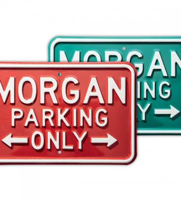 Stalen bord 'Morgan Parking Only' ( maat 45,5 x 30,5 Cm) [ART 259] 57,44€ BTW inb