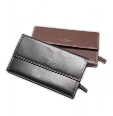 Porte- monnaie en cuir brun ou noir [ART 184] 68,11€ tvac