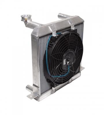 Radiator + ventilator 4/4 Kent alu vóór 1982 [ART 143] 1.032,59€ BTW inb