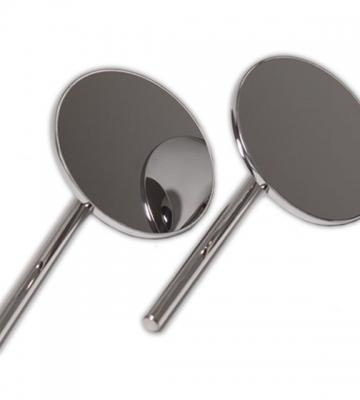 RGeprofileerde spiegel in roestvrij staal (per paar zonder voetstuk) [ART 85] 159,21€ BTW inb