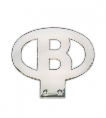 Kenteken B in roestvrij staal [77A] 105,95€ BTW inb