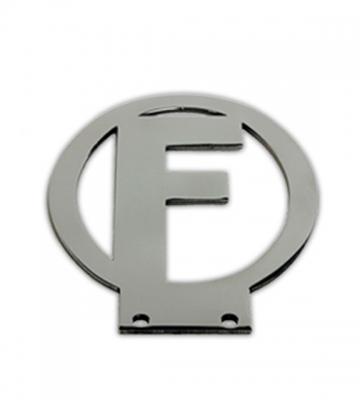 Kenteken F in roestvrij staal [ART 77B] 105,95€ BTW inb