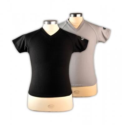 T-shirt Centenary voor dames zwart en grijs (S-M-L-XL-XXL) [ART 220] 30,49€ BTW inb