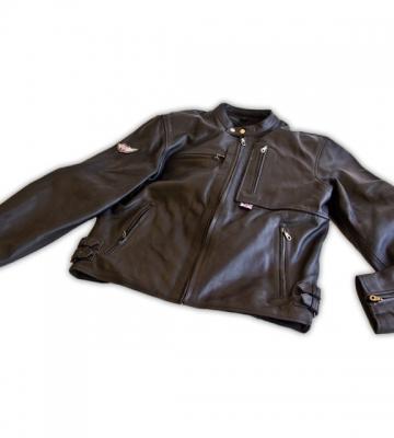 3 Wheeler zwart lederen jas maat: M-L-XL-XXL [ART 30] 446,73€ BTW inb